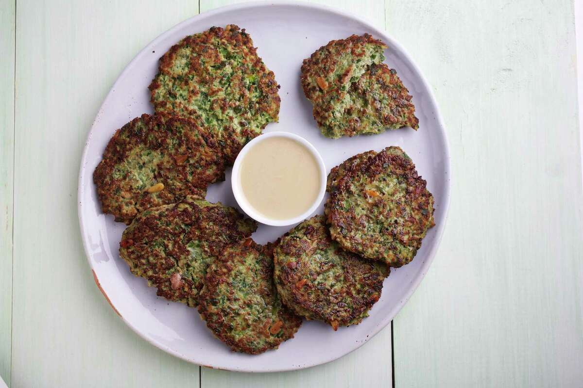 """Syrian Meat and Herb Latkes from """"Jewish Soul Food: From Minsk to Marrakesh?"""" by Janna Gur."""