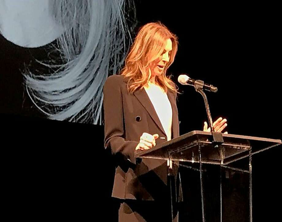 Kathryn Bigelow speaks at the SFFilm Awards. Photo: Leah Garchik, San Francisco Chronicle