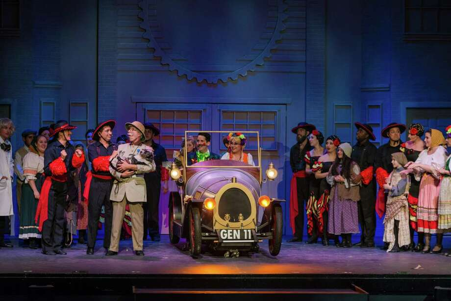 "The team at the Woodlawn Theatre rented the car for its production of ""Chitty Chitty Bang Bang."" Photo: Courtesy Siggi Ragnar"