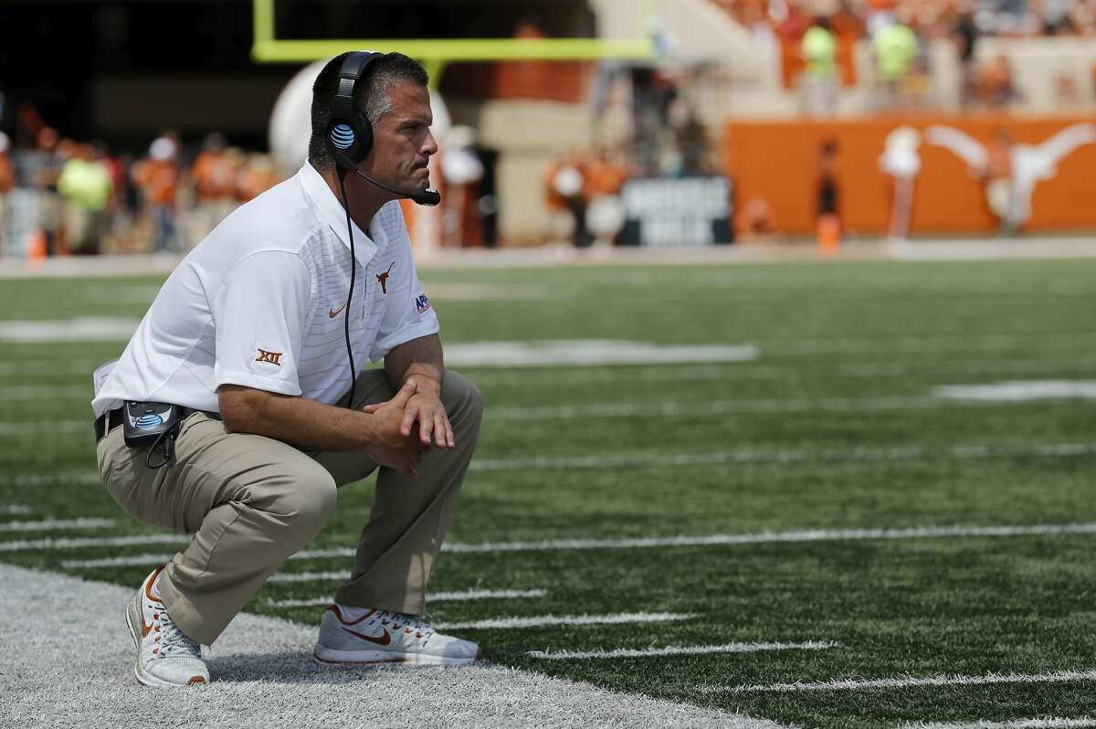 AUSTIN, TX - SEPTEMBER 02: Defensive coordinator Todd Orlando of the Texas Longhorns watches from the sideline in the fourth quarter against the Maryland Terrapins at Darrell K Royal-Texas Memorial Stadium on September 2, 2017 in Austin, Texas. (Photo by Tim Warner/Getty Images)