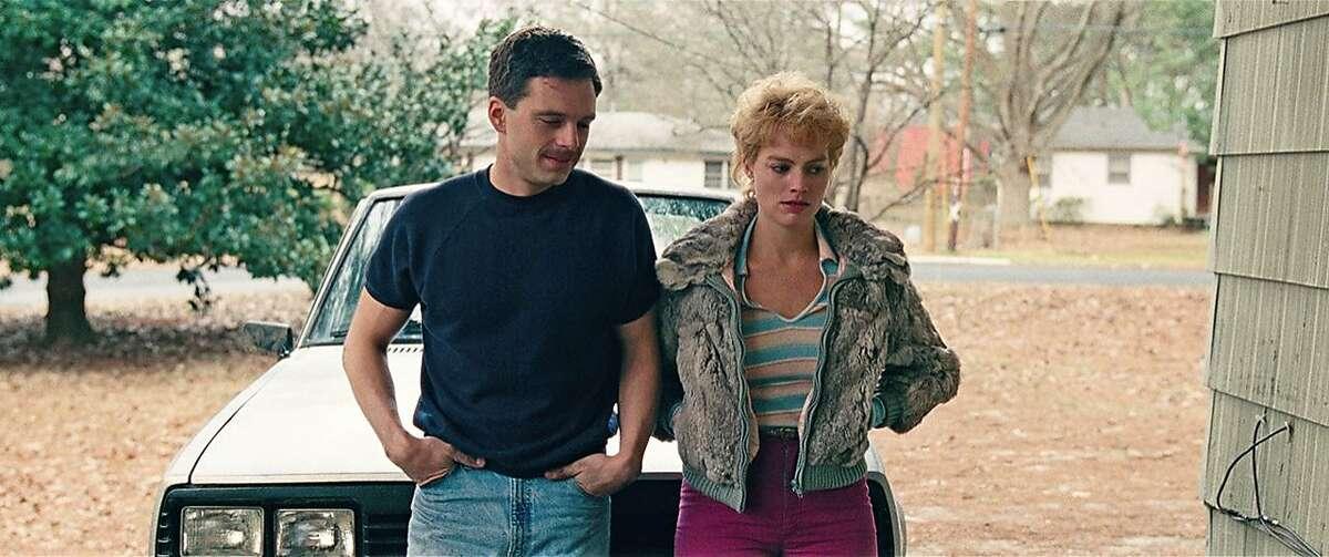 """Sebastian Stan as Jeff Gilooly and Margot Robbie as Tonya Harding in """"I, Tonya."""""""