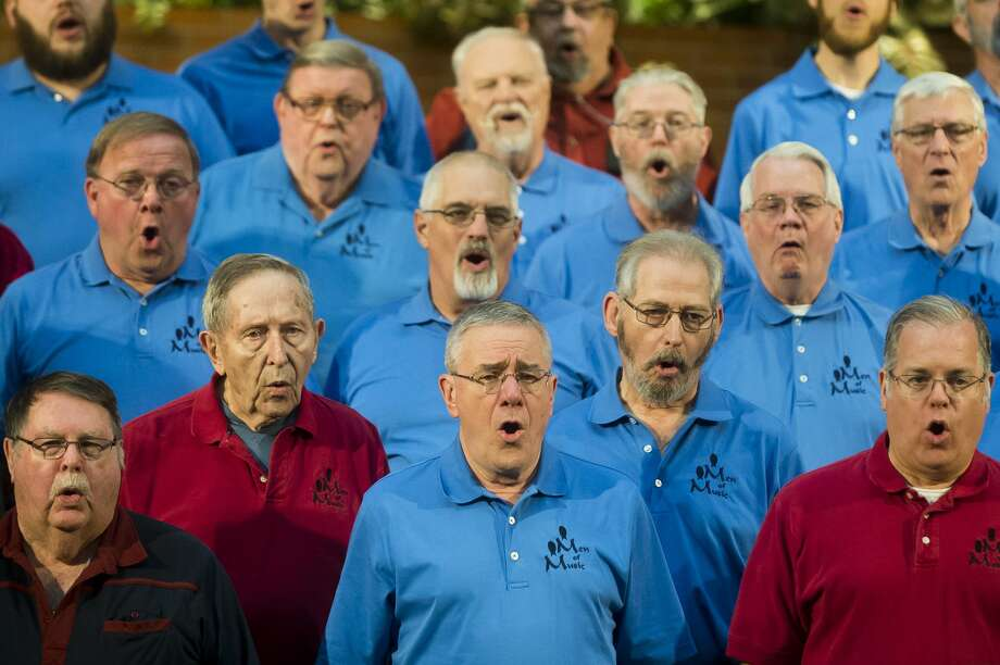 The Men of Music rehearse on Tuesday, Dec. 6, 2017 at First United Methodist Church for their upcoming Christmas concert at 2 and 7 p.m. on Sunday, Dec. 10. (Katy Kildee/kkildee@mdn.net) Photo: (Katy Kildee/kkildee@mdn.net)