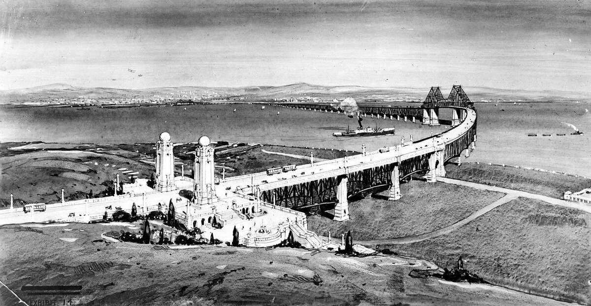An architect's 1950s rendering of a proposed Southern Crossing at Hunters Point in San Francisco. It was one of several versions of the bridge proposed between the 1940s and 1970s but never undertaken.Click through the gallery to see our readers' present-day traffic annoyances.