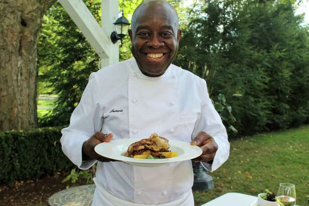 Chef Francois Kwaku-Dongo, who has worked at several well-known Greenwich restaurants, recently arrived at the Roger Sherman Inn in New Canaan, Conn., to launch a new menu and approach at this historic landmark.