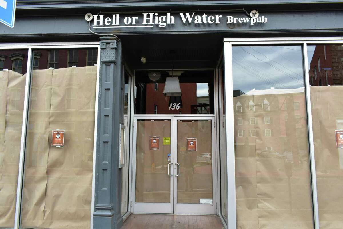The final days of the transition of the short-lived Hell or High Water brew pub, which becomes Iron Brewing on Friday, Dec. 9, 2017, at 136 Washington St. in South Norwalk, Conn., one of multiple changes in store for the SoNo district.