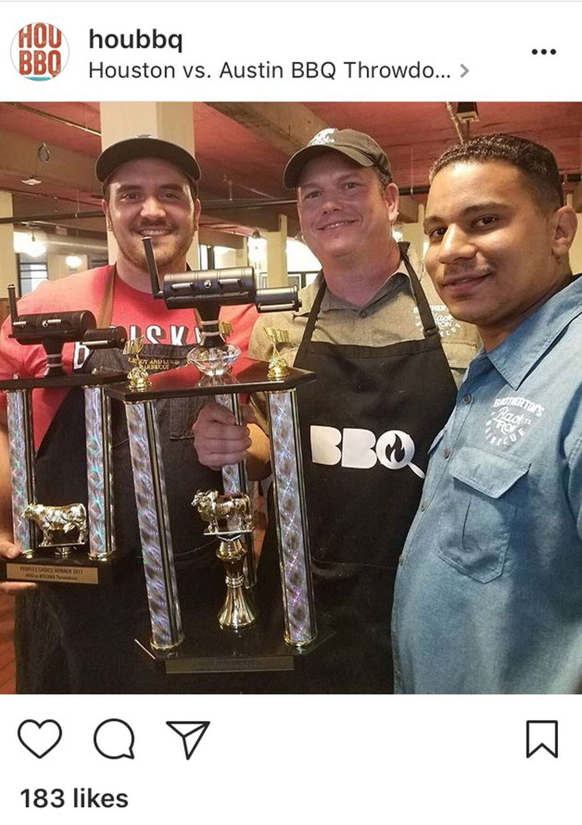 Houston BBQ Festival (@houbbq) snapped @leroyandlewis' nearly clean sweep. The won