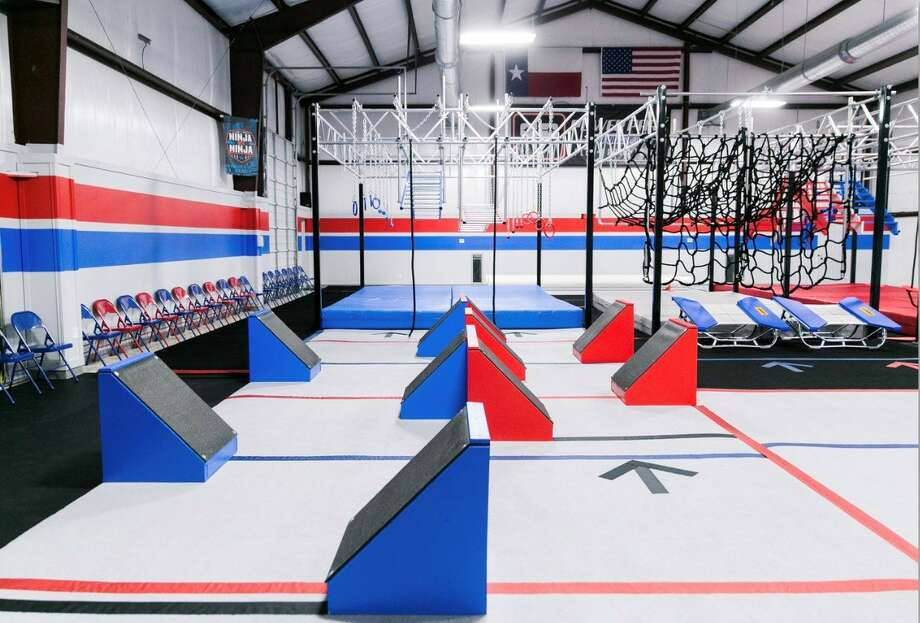 Kids can try american ninja warrior style obstacles at