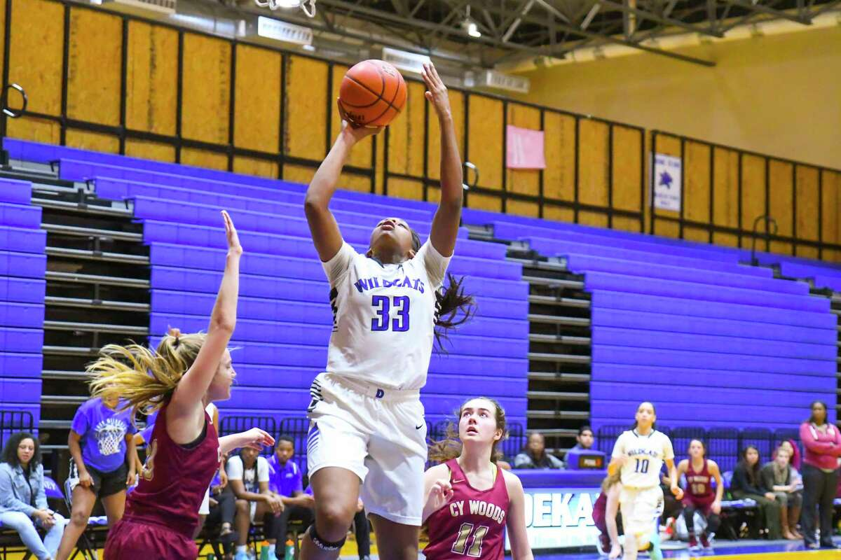 Senior Tatyana Hill led all scorers with 24 points as Dekaney went on to beat Cy Woods 60-37 in pre-district play Tuesday afternoon at Dekaney High School.