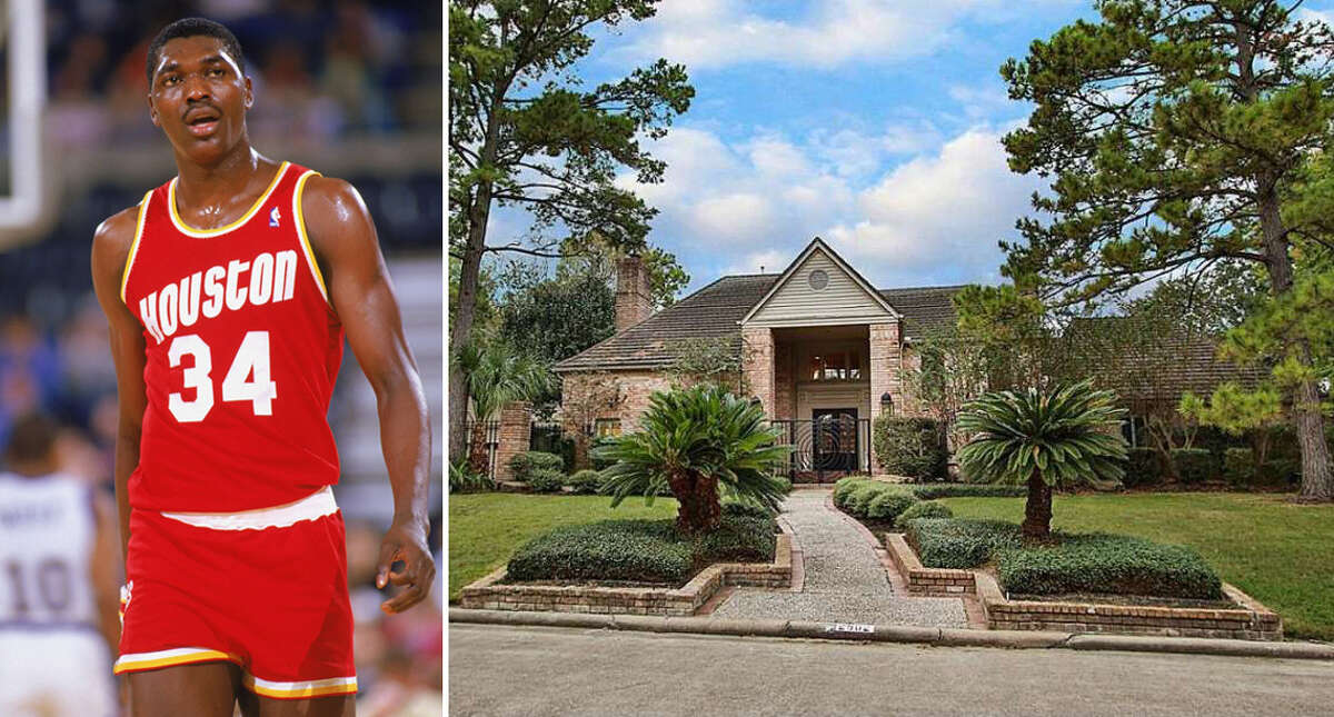 Houston Rockets icon Hakeem Olajuwon's former home at 2902 Pine Lake Trail in the Northgate Forest neighborhood is for sale at $595,000. The 7,271-square-foot home features four bedrooms, six full bathroom and two half-bathrooms, and several entertainment spaces.