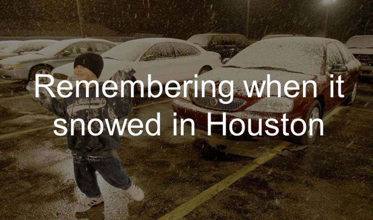 Scroll down memory lane and see images from the last time it snowed in Houston in the gallery ahead.