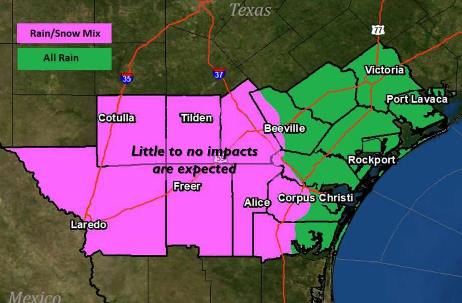Portions of Webb County might see a rain/snow mixture Thursday morning. Photo: National Weather Service/Courtesy