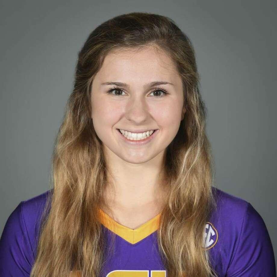 LSU volleyball player Raigen Cianciulli. A 2017 graduate of Oak Ridge High School. Photo: LSU Sports Information