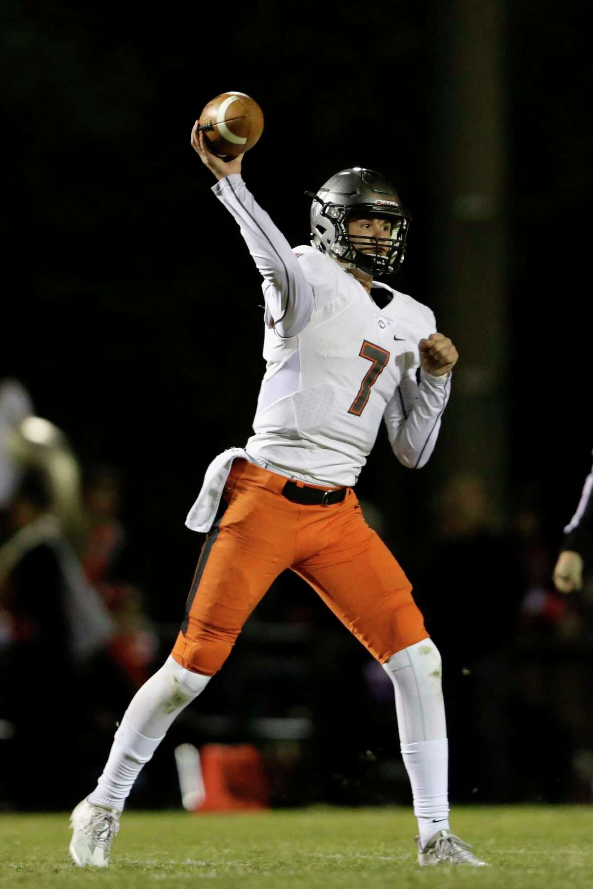St. Pius' Grant Gunnell will be trying to add to his total of 56 touchdown passes in the TAPPS Division I final.