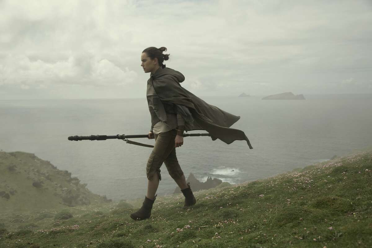 """Daisy Ridley as Rey in a still image from """"Star Wars: The Last Jedi."""""""