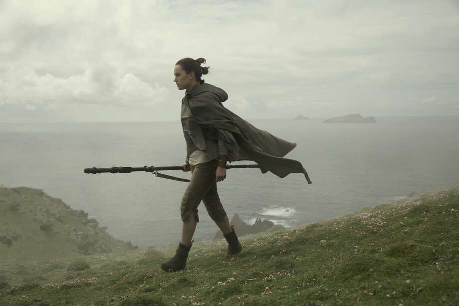 "Daisy Ridley as Rey  in a still image from ""Star Wars: The Last Jedi."" Photo: LucasFilm"