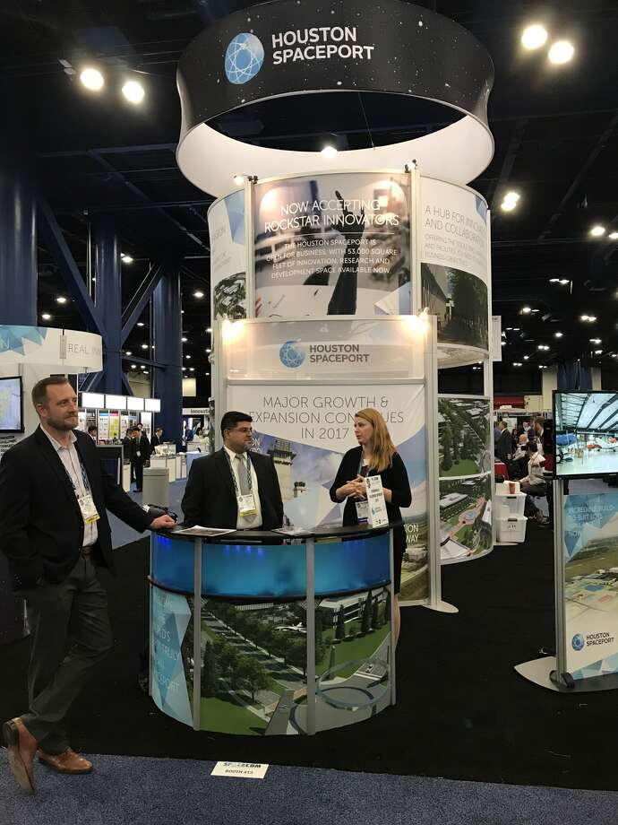 The Houston Spaceport booth at the third annual Space Commerce Conference and Exposition. Photo provided by the Houston Spaceport.