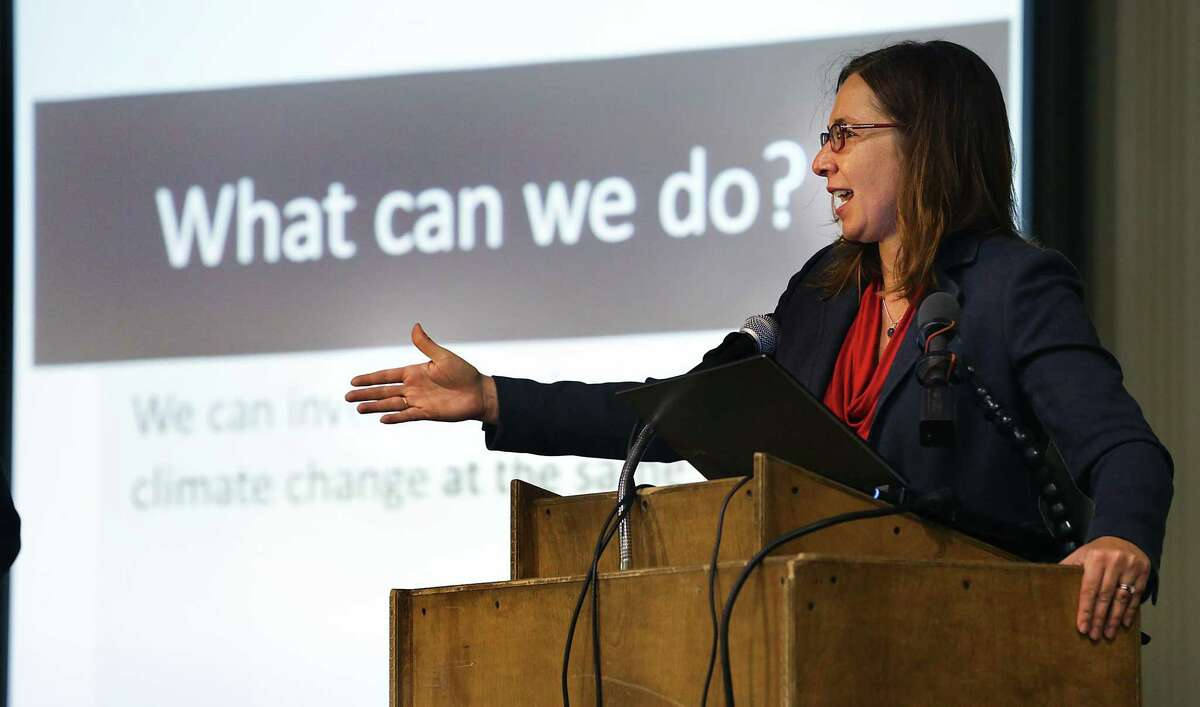 Texas Tech University climate scientist Katharine Hayhoe will be the featured speaker at Thursday's kickoff event from 4 to 7 p.m. at the downtown campus of the University of Texas at San Antonio.