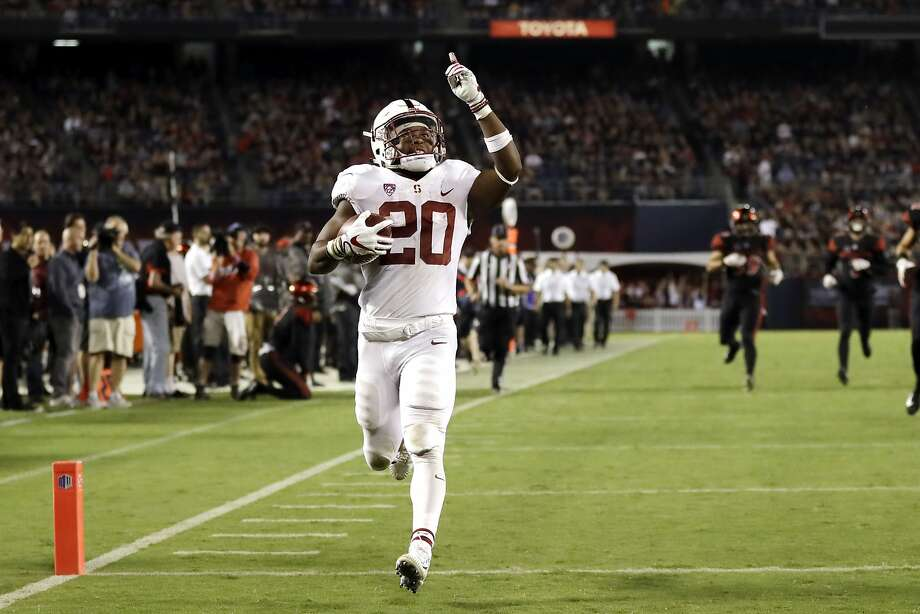 Stanford running back Bryce Love set the FBS record with 12 runs of at least 50 yards this season. Photo: Gregory Bull, Associated Press