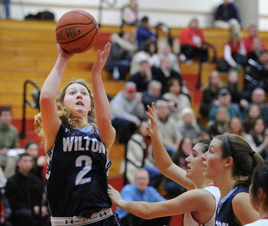 Caroline Sweeny (2) is one of seven key seniors for Wilton. Photo: Bob Luckey Jr. / Hearst Connecticut Media / Greenwich Time