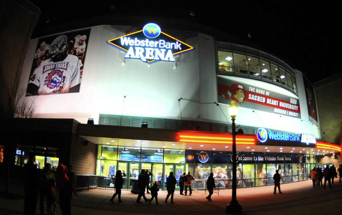 A view of the Webster Bank Arena before Sound Tiger's AHL hockey action in Bridgeport, Conn. on Saturday Dec. 2, 2017.