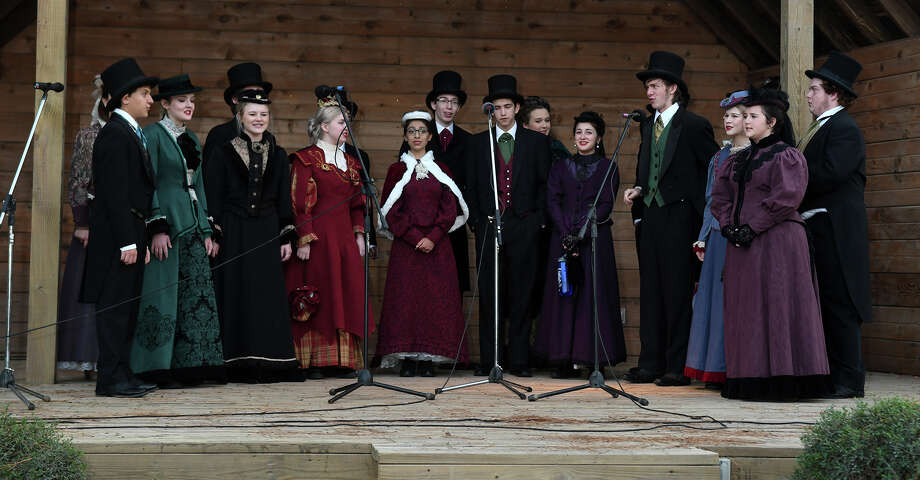 The Kingwood High School Madrigals perform during the Old-Fashioned Christmas at the Jesse H. Jones Park & Nature Center in Humble on Dec. 2, 2017. (Photo by Jerry Baker/Freelance) Photo: Jerry Baker, Freelance / Freelance
