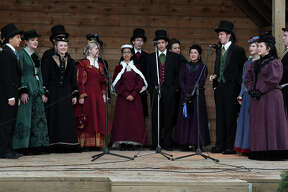 The Kingwood High School Madrigals perform during the Old-Fashioned Christmas at the Jesse H. Jones Park & Nature Center in Humble on Dec. 2, 2017. (Photo by Jerry Baker/Freelance)
