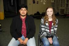 Photo 1: Plainview High School band members Fernando Flores and Amanda Holt were selected as members of the All-Region Honors Band.