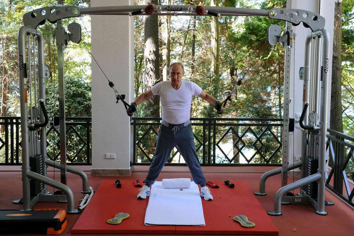 Vladimir Putin, 65 - President of Russia He claims that swimming is where he