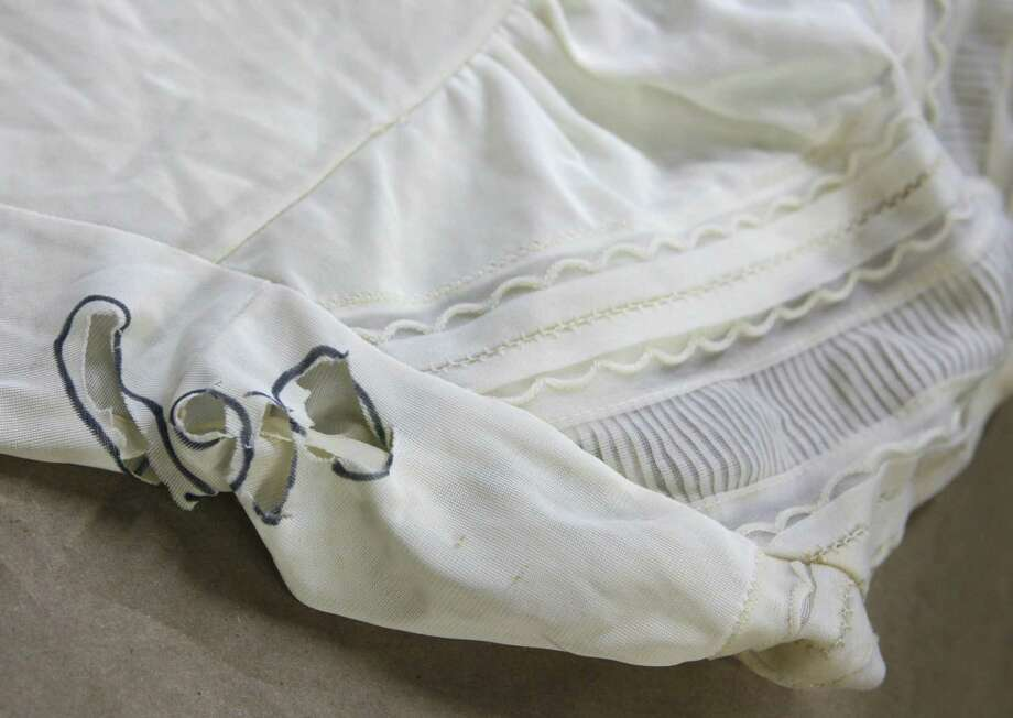 The slip worn by Irene Garza when her body was discovered in a canal on April 21, 1960 in McAllen. The slip has been entered into evidence in John Bernard Feit's trial for the 1960 murder of Irene Garza in the 92nd state District Court at the Hidalgo County Courthouse in Edinburg.