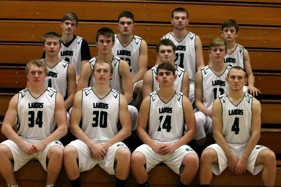 Members of the EPBP boys varsity basketball team are (front row from left) Brady Smith, Brady Renn, Nick Sigfried, and Brennan Wissner (middle row) Troy Chappel, Mason Pasek, James Dubs and Andrew Sigfried (back row) Travis Frtiz, Cory Maneti, Karson Binder and Samuel Gasta. Missing is coach Eric Wissner. Photo: Thumb Sportswriters Association