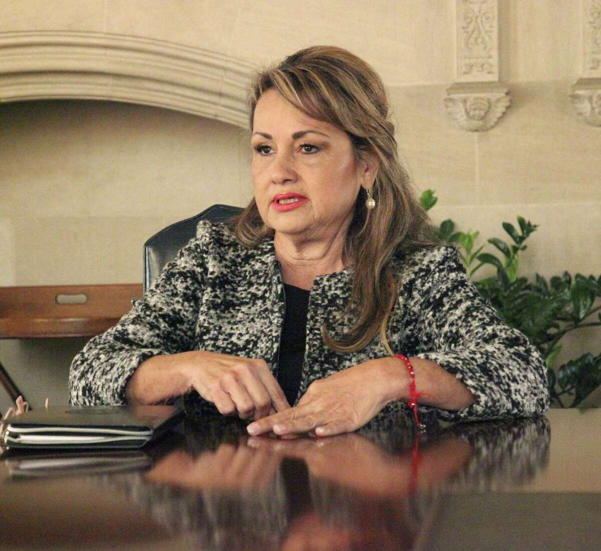 Helen Madla-Prather, the trustee for District 6, has resigned from the South San Antonio Independent School District because she'll be moving to Del Rio.