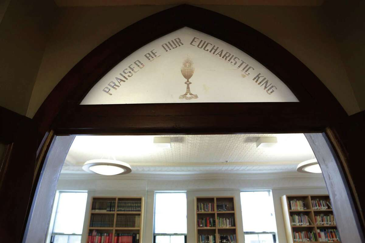 A detail in the library at the Healy-Murphy Center.