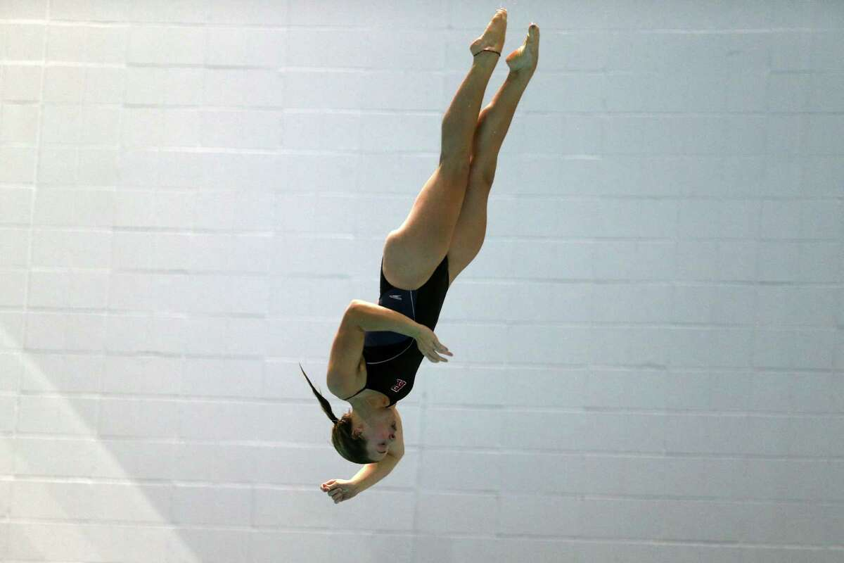 Ballston Spa High School graduate Addison Walkowiak of the Rutgers swimming and diving team. (Mel Evans / Rutgers Athletics)