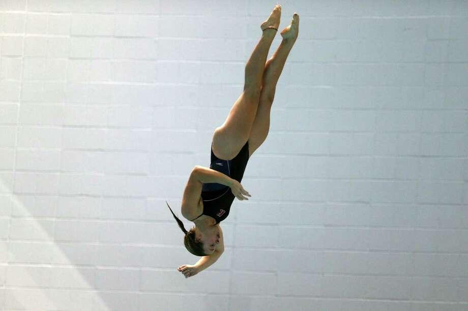 Ballston Spa High School graduate Addison Walkowiak of the Rutgers swimming and diving team. (Mel Evans / Rutgers Athletics) Photo: Mel Evans