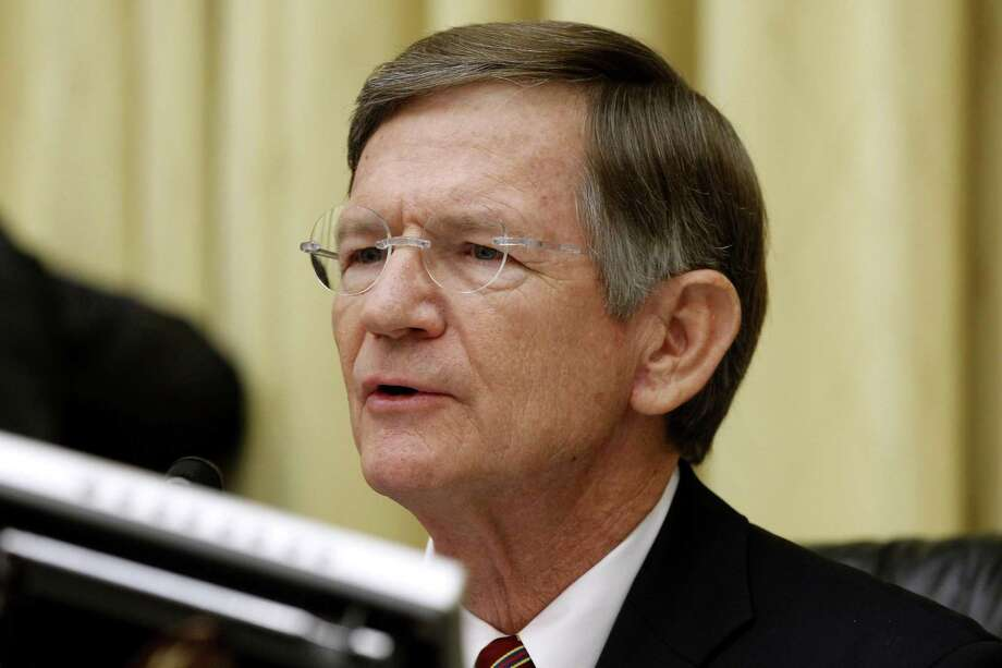 FILE - In this June 7, 2012 file photo, House Science Committee Chairman Rep. Lamar Smith, R-Texas speaks on Capitol Hill in Washington. He is one of four veteran Texas Republicans who are quitting Congress, meaning their state will be trading House seniority for newcomers who may be even more conservative.(AP Photo/Charles Dharapak, File) Photo: Charles Dharapak, STF / AP / ap