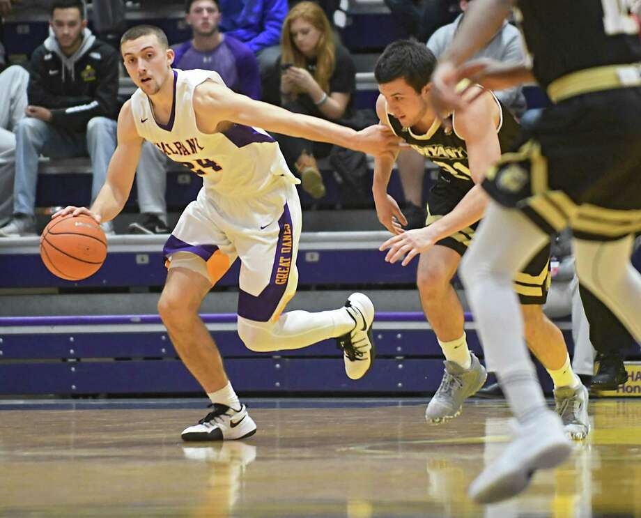 University at Albany's Joe Cremo steals the ball during a basketball game against Bryant at the SEFCU Arena on Wednesday, Dec. 6, 2017 in Albany, N.Y. (Lori Van Buren / Times Union) Photo: Lori Van Buren / 20042311A