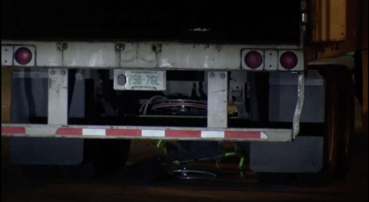 A man was accidentally run over by a semi early Thursday morning.
