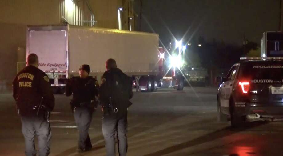 A man was accidentally run over by a semi early Thursday morning. Photo: Metro Video