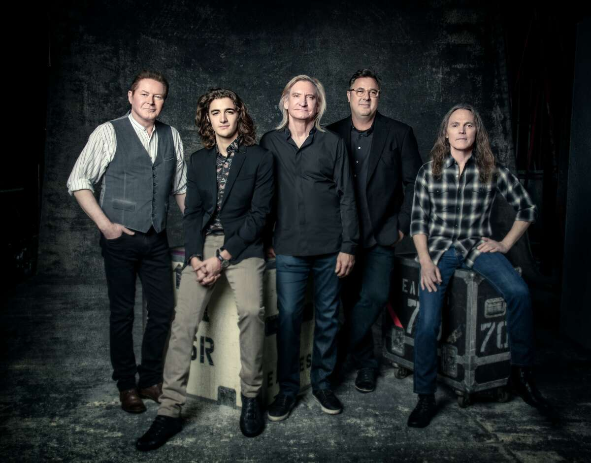 The current Eagles lineup includes Don Henley, Joe Walsh and Timothy B. Schmit, along with the late Glenn Frey's son Deacon Frey and country icon Vince Gill.