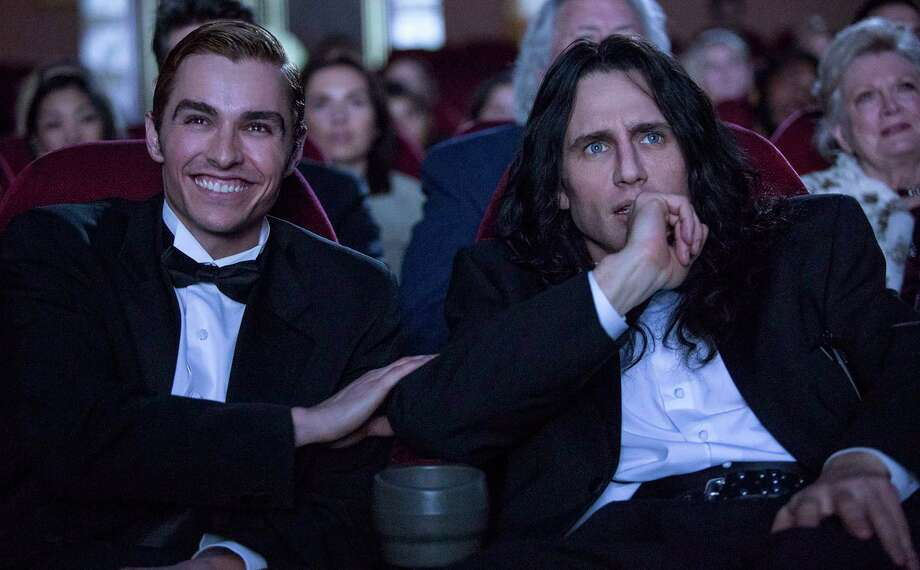 """Dave Franco, left, and James Franco star as real-life filmmakers Greg Sestero and Tommy Wiseau, respectively, in """"The Disaster Artist."""" Photo: Justina Mintz, HONS / © 2015 Warner Bros. Entertainment Inc."""