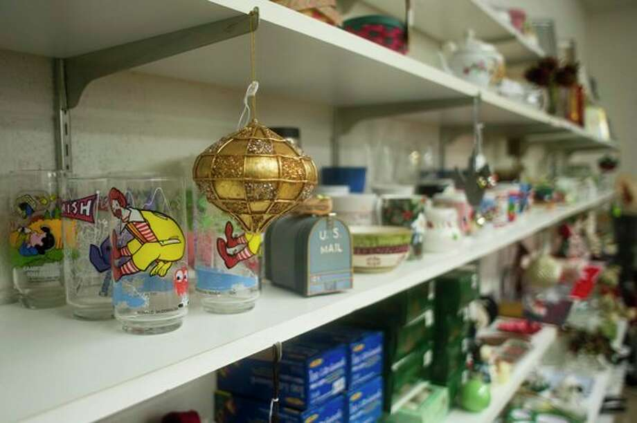 Items are on display inside the thrift store at King's Daughters Home. (Katy Kildee/kkildee@mdn.net)