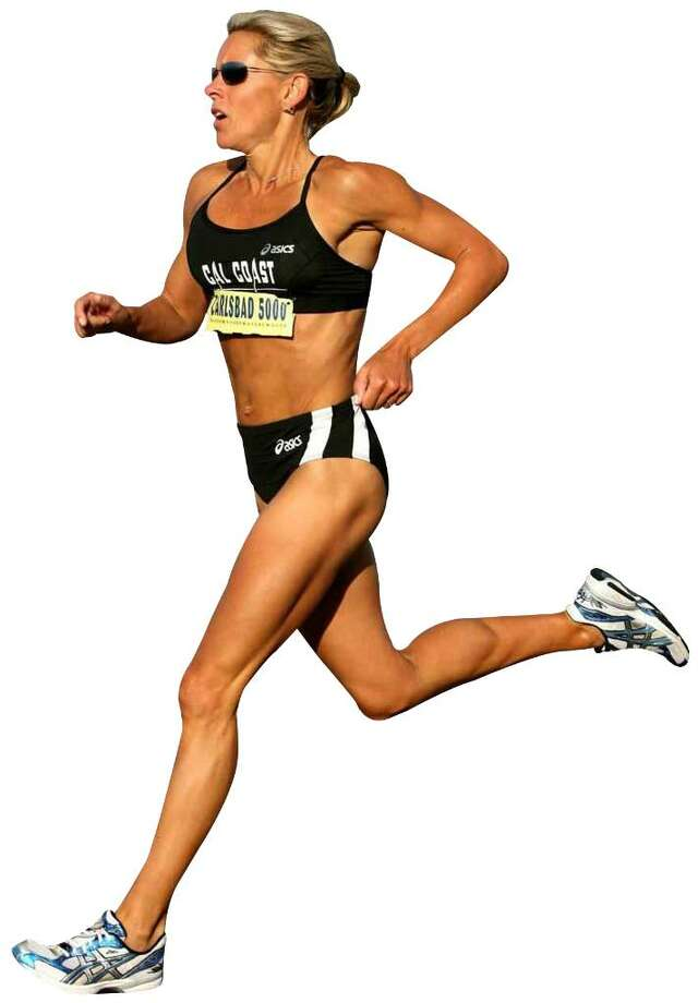 Ceci Hopp St. Geme competes during a 5K race in California. Photo: Contributed Photo