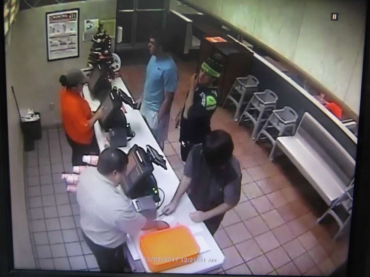 Seguin police are looking for the man in the jersey, who stole a Christmas tree from a Whataburger on Dec. 5, 2017.