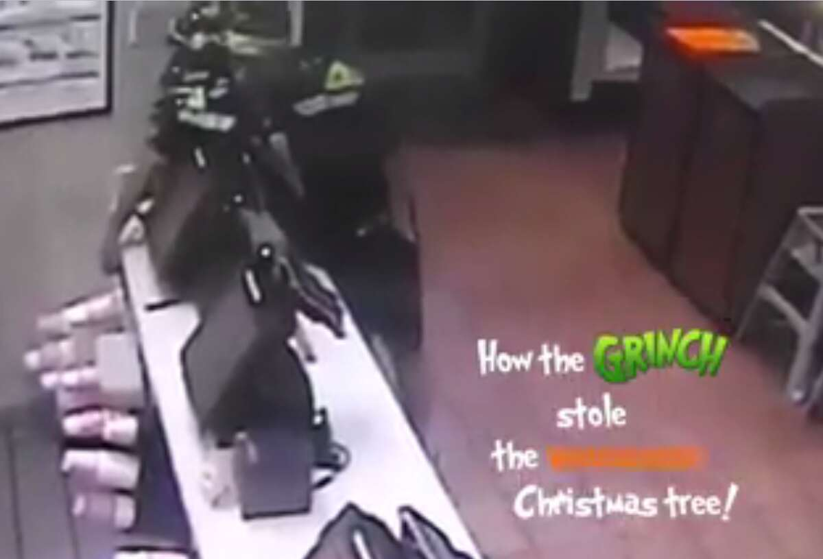 Seguin police are looking for a man who stole a Whataburger Christmas tree on Dec. 5, 2017.