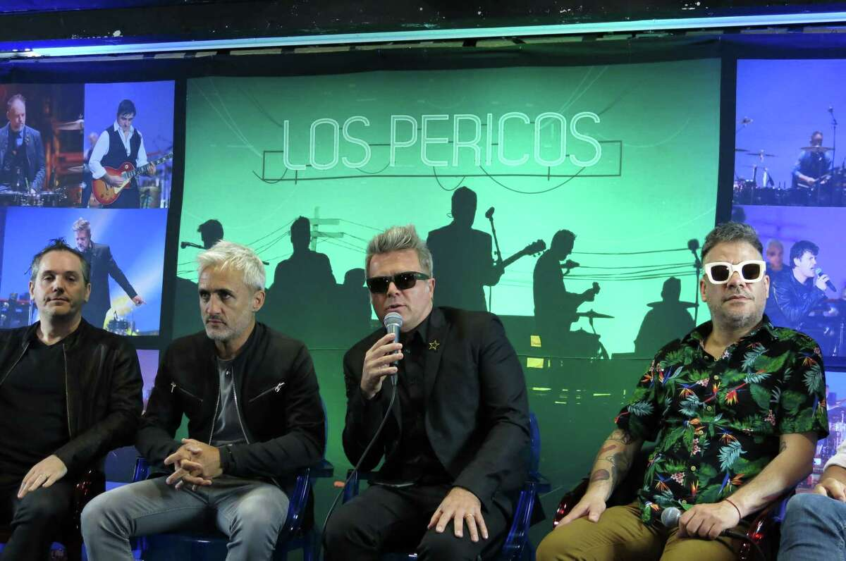 In this Oct. 24, 2017 photo, Juanchi Baleiron, of the Argentine band Los Pericos, talks to the press as they present their 30th anniversary album Â?