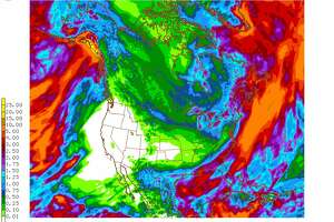 """Long range forecast models depict no precipitation along just about all of the West Coast over the next 14 days,"" the National Weather Service said in a tweet on Dec. 7, 2017."