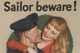 Sailors were reminded that careless words shouldn't be spoken to their female dates, who could be spies.