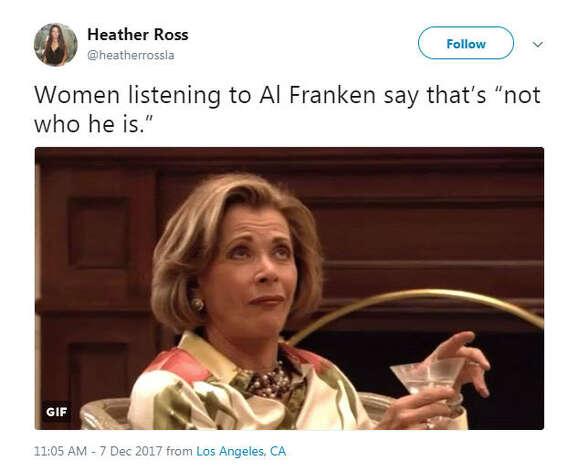 """Women listening to Al Franken say that's 'not who he is.'""Source: Twitter Photo: Twitter"