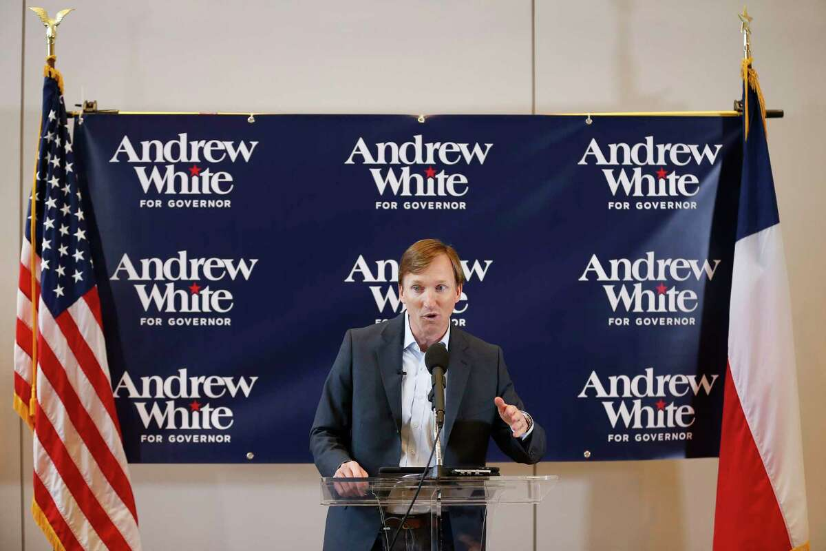 Andrew White, son of former Texas Governor Mark White, launches his campaign for Governor Thursday, Dec. 7, 2017 in Houston.( Michael Ciaglo / Houston Chronicle)