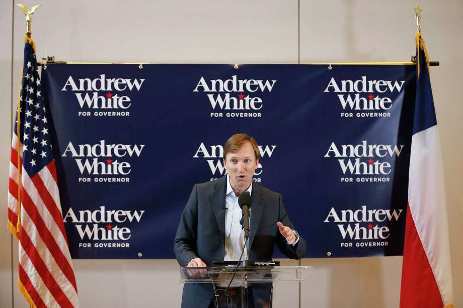 Andrew White, son of former Texas Governor Mark White, launches his campaign for Governor Thursday, Dec. 7, 2017 in Houston.( Michael Ciaglo / Houston Chronicle) Photo: Michael Ciaglo, Houston Chronicle / Michael Ciaglo